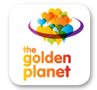 The Golden Planet logo